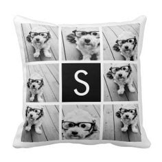 Shop Black and White Photo Collage Custom Monogram Throw Pillow created by MarshEnterprises. Personalize it with photos & text or purchase as is! Monogram Pillows, Custom Pillows, Decorative Pillows, Instagram Collage, Black And White Pillows, Green Throw Pillows, Photocollage, Wedding Pillows, Designer Throw Pillows