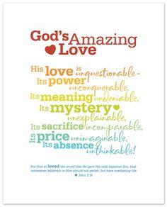 Free - God's Amazing Love Printable