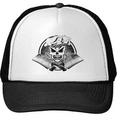Chef Skull 2 and Crossed Cleavers 2 Trucker Hat - Brought to you by Avarsha.com