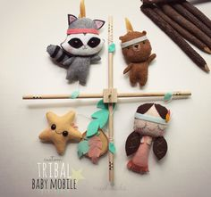 Woodland Baby Mobile Native American Nursery Indian by mukibaba