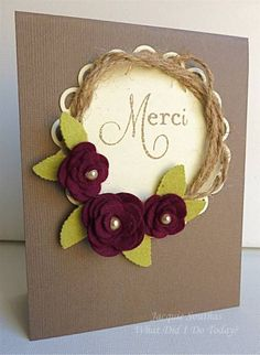 Merci wreath by Jacquie J - Cards and Paper Crafts at Splitcoaststampers