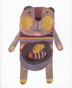 Bear-and-Bees by Ludmila Penouchkina