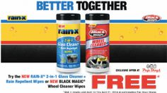 Rain-X Glass Cleaner & Wheel Cleaner Wipes (FREE After Rebate Thru 4/21) – Submit Online