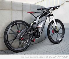 A bicycle designed by Audi