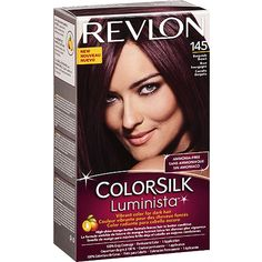 Revlon Colorsilk Luminista saturates dark hair with vibrant, shimmering color while subduing unwanted brassiness. This gentle, ammonia-free formula contains shine-enhancing mango butter and leaves hair in better condition than before you colored. Burgundy Brown Hair Color, Burgendy Hair, Deep Burgundy, Box Hair Dye, Dye My Hair, Revlon Colorsilk, Cherry Hair, Liquid Hair, Hair Color Formulas