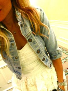 have the jean jacket... just need the dress! <3