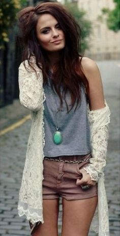 A casual bohemian outfit you could try. | Bohemian Style