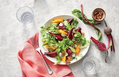 For this bright, beautiful salad, use ready- to-eat peeled and steamed beets or roast your own. Easy Easter Recipes, Healthy Dinner Recipes, Easy Recipes, Easter Ideas, Brunch Recipes, Appetizer Recipes, Dessert Recipes, Desserts, Side Dishes For Chicken