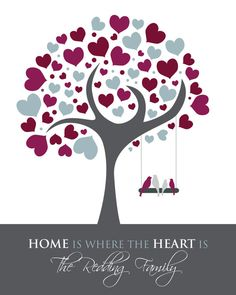 Home is where the heart is Personalized by GoodNightOwlDesigns