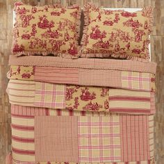 Elaine Rouge Quilt Twin