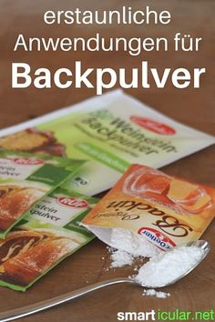 Backpulver ist nicht nur zum Backen gut, es gibt auch viele überraschende aber sehr nützliche Anwendungen im Haushalt für das kleine Pulver aus der Tüte.