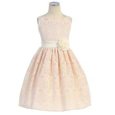 ef478945620 Flower girl dresses · Sweet Kids Girls 8 Peach Vintage Lace Overlay Easter  Dress sweet kids