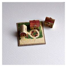 Open House Miniatures - 3 Houses from McLoughlin's Pretty Village (pdf file)