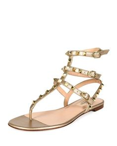 3b858139b6ce Valentino Rockstud Flip Flop ( 250) ❤ liked on Polyvore featuring ...