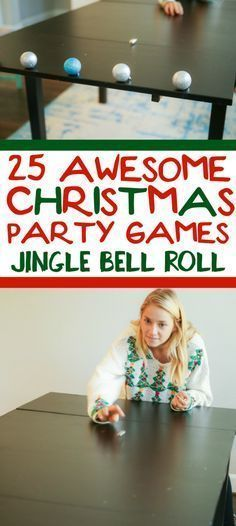25 funny Christmas party games that are great for adults, for groups, for teens, and even for kids! Try them at the office for a work party, at school for a class party, or even at an ugly sweater party! I can't wait to try these for family night this Christmas season!