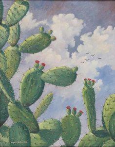 Obra de arte: Gavilanes y Nopales Artistas y arte. Artistas de la tierra PINNED by My Art y Lezama