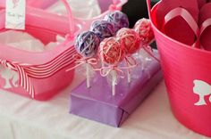 I have seen the hair piece lollies at Dollar tree, it would be really cute to add to the sleepover goodie bags