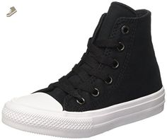 e331f730b6c2 Converse Little Boys Chuck Taylor All Star Ii Kids High Top Trainers Black  Size 33 -
