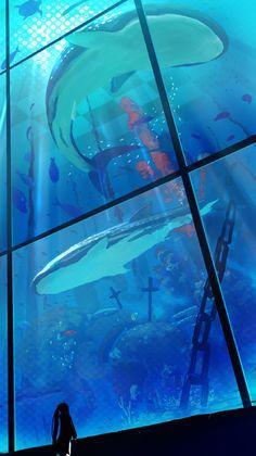 「見上げる青い世界」/「KIKURIN」のイラスト [pixiv]