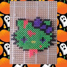 Zombie Hello Kitty perler beads by theravengirl956