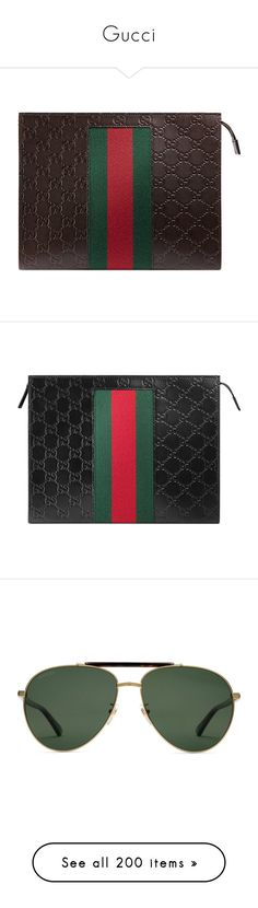 """""""Gucci"""" by erikaje ❤ liked on Polyvore featuring beauty products, beauty accessories, bags & cases, brown, make up bag, make up purse, toiletry kits, travel bag, cosmetic bags and black"""