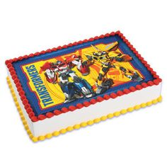 Transformers Edible Image Cake Topper by ABirthdayPlace on Etsy