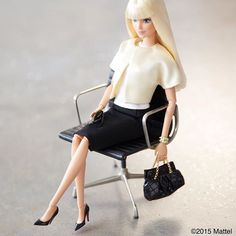 Monday meetings…back at it!  #barbie #barbiestyle
