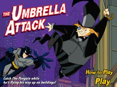 Batman - The Umbrella Attack game online Play Online, Online Games, Batman Games, Doraemon, Free Games, Penguins, Jet, Movie Posters, Anime