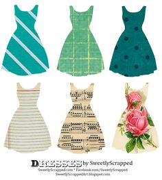 Sweetly Scrapped: Freebie Printable Dresses