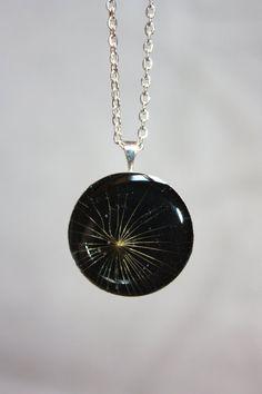 Real dandelion pendant. Pendant dandelion. A dandelion от Dingaya