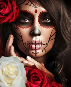 Halloween makeup day of the dead | Halloween | Pinterest ...