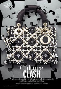 Dior pearl puzzle bag