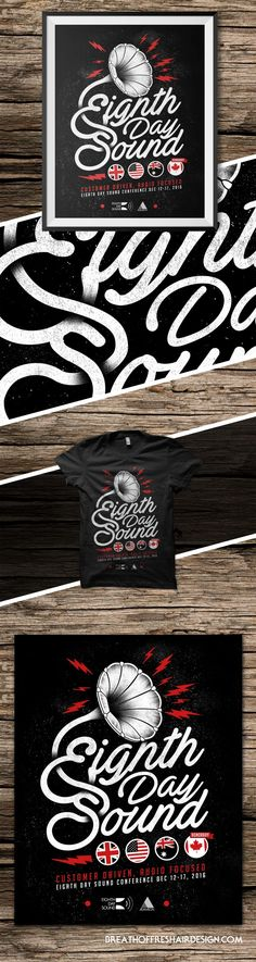 Day Sound – T-Shirt and Poster – Breath Of Fresh Air Design Breath Of Fresh Air, 8 Days, Cata, T Shirt, Poster, Design, Tee, Posters