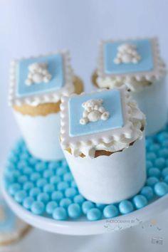 Blue Christening Birthday Party via Kara's Party Ideas | Kara'sPartyIdeas.com #blue #christening #birthday #party #supplies #ideas (7)