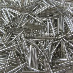 wholesale 25 mm silver lined silver color glass long bugle beads with hole 420 g per bag for curtain decoration Beads Pictures, Decorating With Pictures, Bugle Beads, Yarns, How To Dry Basil, Silver Color, Curtains, Decoration, Bag