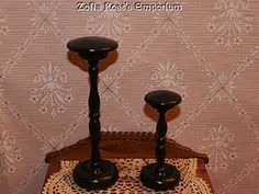 Need hat and wig stands for French dolls...  French Fashion Doll ~ Hat Stands #3 ~ Black (item #1277218)