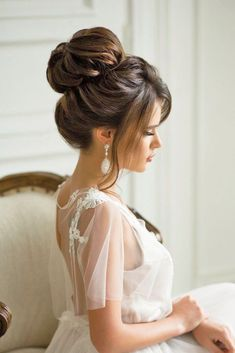 Timeless Bridal Hairstyles ❤ See more: http://www.weddingforward.com/timeless-bridal-hairstyles/ #weddings #weddinghairstyles