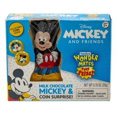 """""""Oh Boy!"""" Mickey Mouse Candy IntroducingWonder Mates Plus Prize featuring Mickey Mouse and friends! Each box contains ahollow milk chocolate character & a collectiblecoinsurprise. 0.7oz Ingredients: Ingredients and nutritional information provided by the manufacturer and considered accurate at the time of posting. Refer to product labelling or contact manufacturer directly for the current date Disney Names, Disney Mickey, Mickey Mouse And Friends, Product Label, Coin Collecting, Winnie The Pooh, Disney Characters, Fictional Characters"""