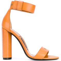 Tom Ford ankle strap sandals ($1,090) ❤ liked on Polyvore featuring shoes, sandals, orange leather shoes, ankle tie shoes, leather sandals, tom ford sandals and ankle wrap shoes