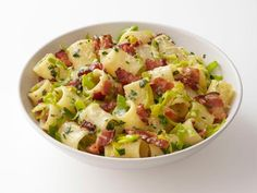 Get Pasta with Bacon and Leeks Recipe from Food Network