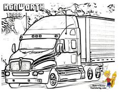18 Wheeler Diesel Coloring Pictures of Trucks. You Can Print Out ...
