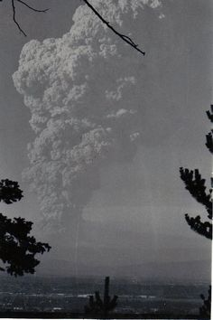 Mt. St. Helens explosion 1980.  I had a view just like this one.  Incredible.