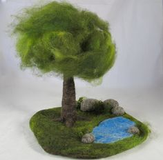 needle felted playmat-changing seasons tree by dragonflyducky, via Flickr