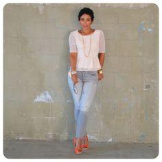 Todays Look:  Forever 21 Swiss Dot Peplum + Zara Basic Stretch Jeans @ www.mimigstyle.com
