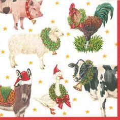 Image result for Cocktail Christmas paper napkins