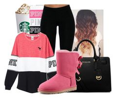 """""""Untitled #1369"""" by honey-cocaine1972 ❤ liked on Polyvore featuring moda, Victoria's Secret, MICHAEL Michael Kors e UGG Australia"""