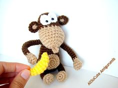 Crochet Amigurumi Muster Amigurumi Affe Muster Muster von AllSoCute