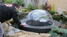 We hope you will find this short video both interesting and informative, watch the 1 meter diameter dome fill with 76 gallons of water and float half a meter above the level of the water in your pond, for more information please visit Also watch the evacu Outdoor Projects, Garden Projects, Koi, Aquariums, Fish Tower, Aquaponics System, Aquaponics Garden, Gardening, Goldfish Pond