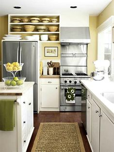 Clutter Countdown - tips for clean kitchen counters and ideas for small spaces. #cluttercountdown