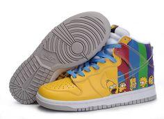 1d1b25c49624 Nike Dunk High Custom Homer The Simpsons Yellow Green